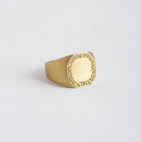 Agas & Tamar Stamp and Engraving ring - 14k gold