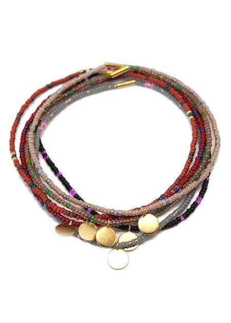 Bluma Project Set Of 6 Mynt Bracelets - brass