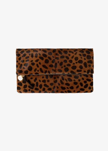 Clare V. Foldover Clutch - Leopard