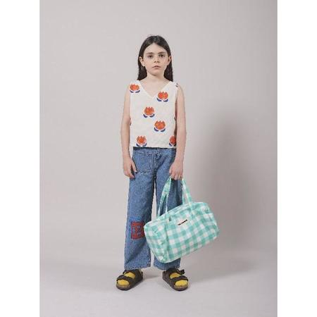 kids bobo choses chocolate flowers allover top - white