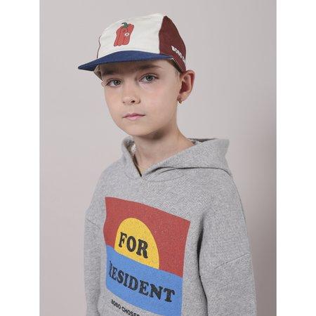 kids bobo choses for president hoodie - gray