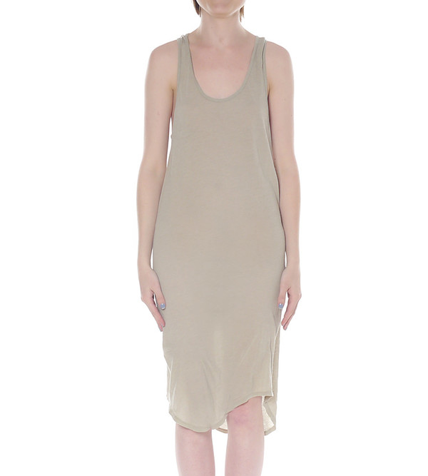 Raquel Allegra Midi Length Jersey Tank Dress