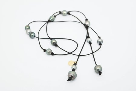 Perle By Lola Lariat Tahitian Pearl Necklace