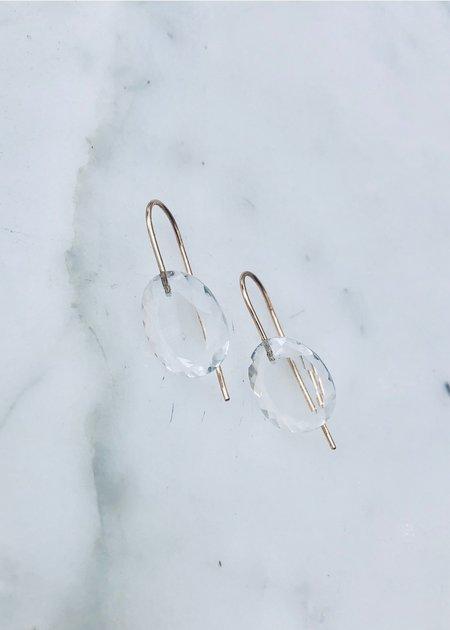 Rosanne Pugliese Mini Rock Crystal Earrings - 14 gold