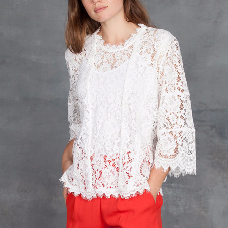 Iro Yacinthe Lace Top in Ecru
