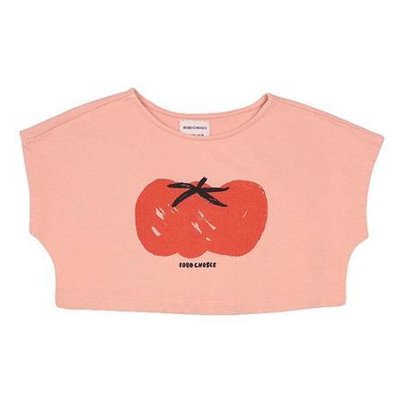 Kids Bobo Choses Cropped Sweatshirt With Tomato Print - Pink