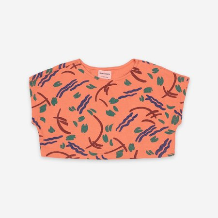 Kids Bobo Choses Strokes All Over Cropped Sweatshirt