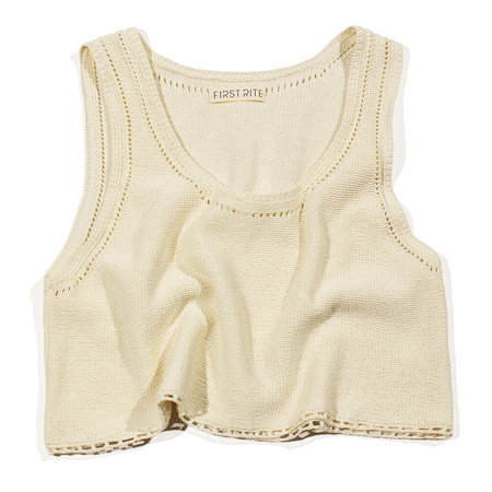 First Rite Sweater Tank - Natural