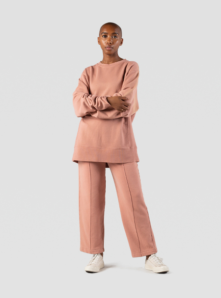 I AND ME Organic Brushed Trackpant - cassis pink