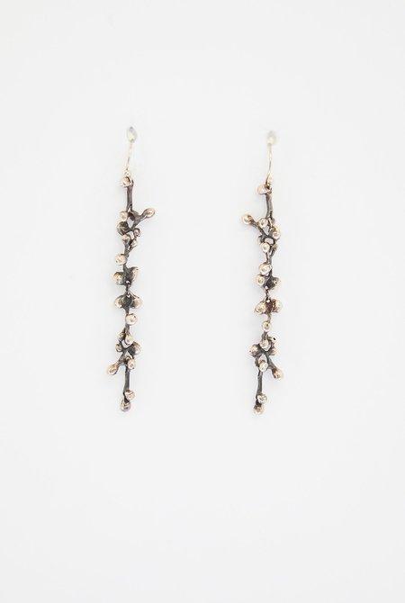 TEN THOUSAND THINGS Long Molten Cluster Earring - 18k Sterling Silver