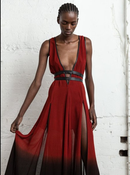 Nicholas K Rhine Dress - Crimson/Black