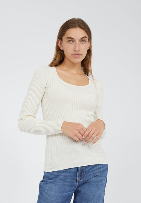 Armedangels ALAANI CREWNECK made of Organic Cotton Sweater - oatmilk