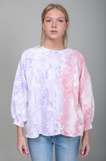 Rachel Comey Fond Marble Dyed Sweatshirt - Lilac