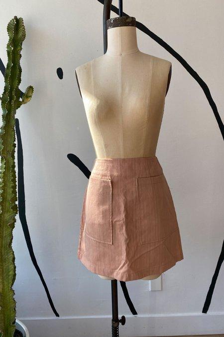 Whimsy + Row Sample Sale Teagan Skirt - Blush
