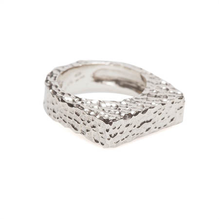 Vrients DI-TO D letter ring - silver