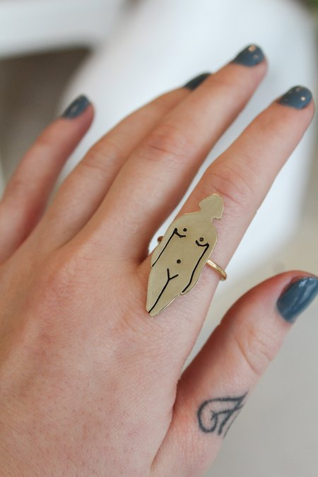 Therese Kuempel Lady Ring - brass