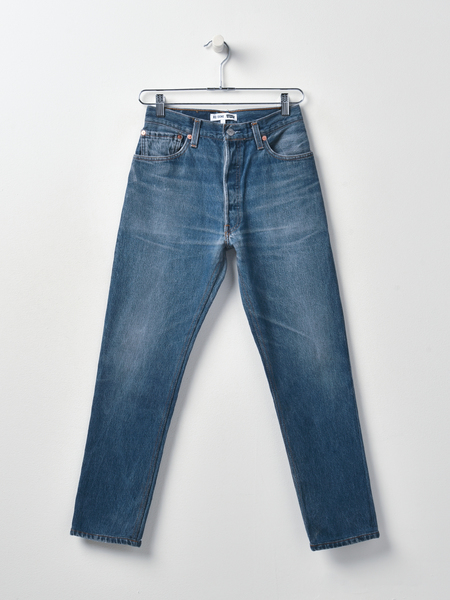 RE/DONE HIGH RISE ANKLE CROP DENIM - INDIGO