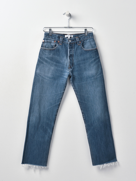 RE/DONE HIGH RISE STOVE PIPE DENIM - INDIGO