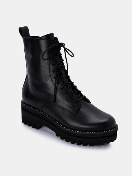 Dolce Vita Prym Leather Boots - Black