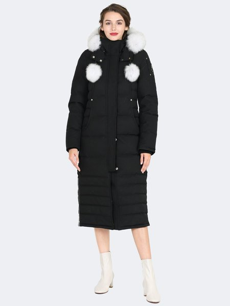 Moose Knuckles Saskatchewan Parka - Black with Poms