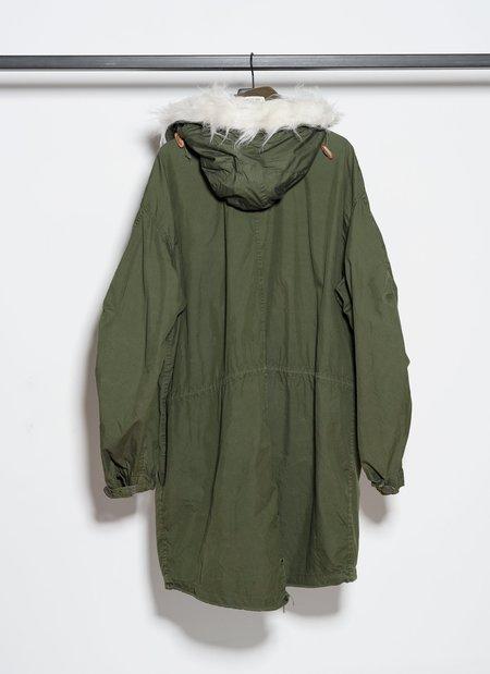 Vintage M-65 Fishtail Parka With Hood - Olive