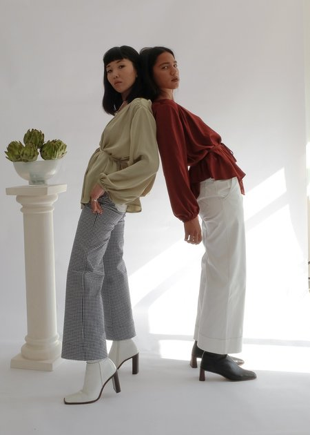 OhSevenDays The Tuesday High Kick Flare High Waisted Trousers