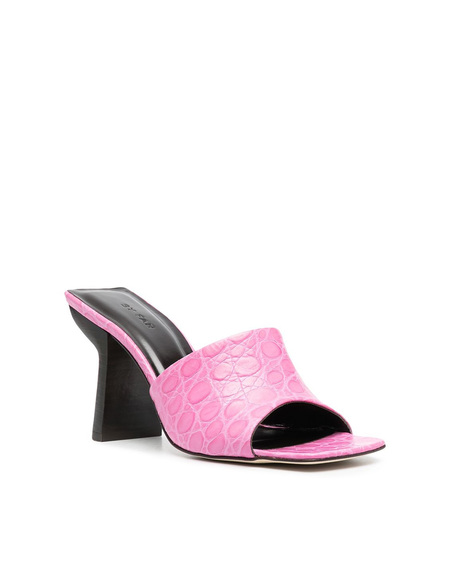 By FAR Liliana Embossed Sandals - Fushsia