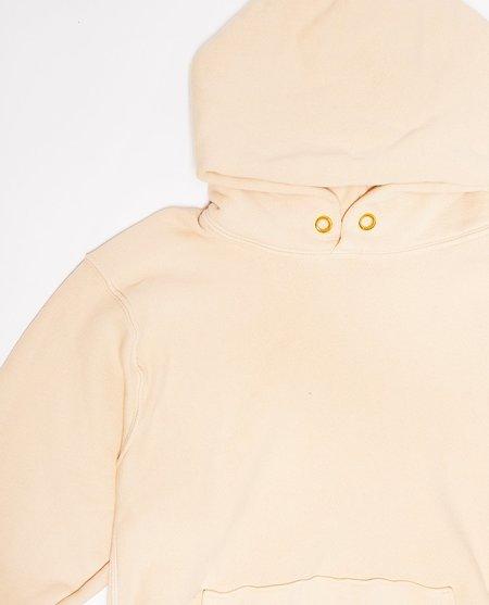 Les Tien Cropped Hoodie - Cream