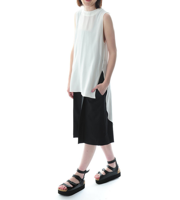 Public School Off-White Sleeveless Tunic