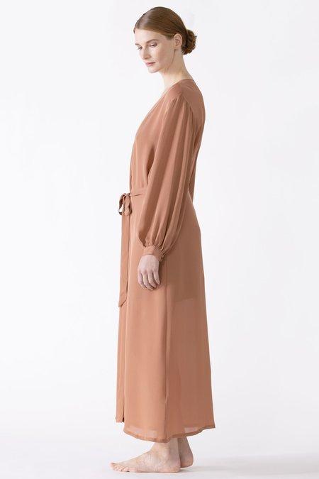 Dahlia Bliss Silk Long Robe