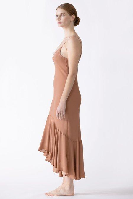 NK IMODE Dahlia Flutter Silk Midi Dress