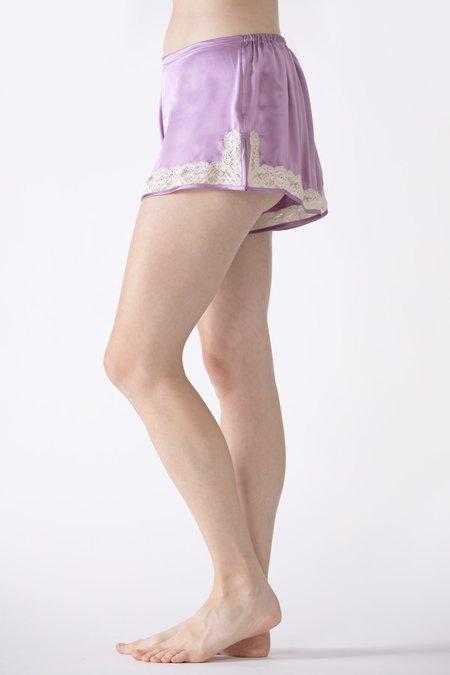NK IMODE Gardenia Lace Trim Silk Tap Pant shorts