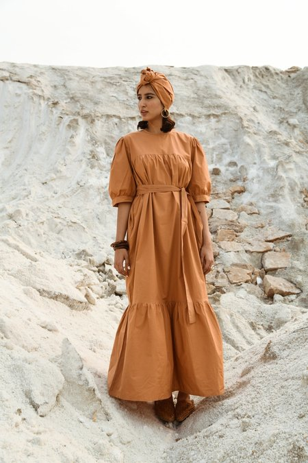 Little Tienda Dunes Georgia dress - brown