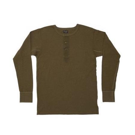 Homespun Knitwear Surplus Henley - Olive Drab