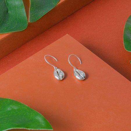 TheCanoShoe Concha Earrings - Silver