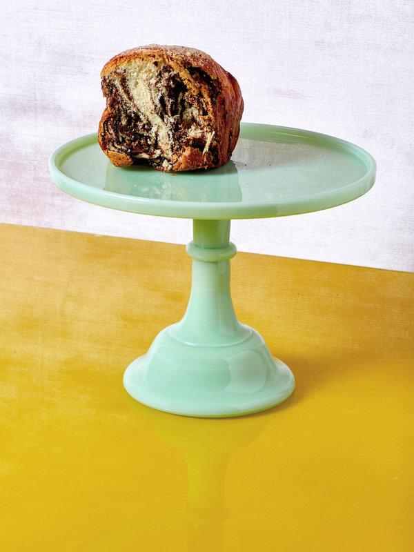 """JADEITE 10"""" CAKE STAND"""
