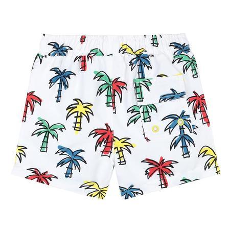 kids Stella McCartney Baby Swim Palm Print Shorts - Multicolour
