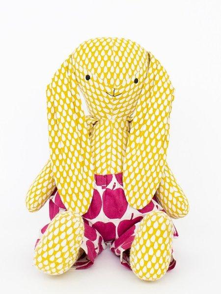 Kids Afro Art Paul Rabbit - Yellow