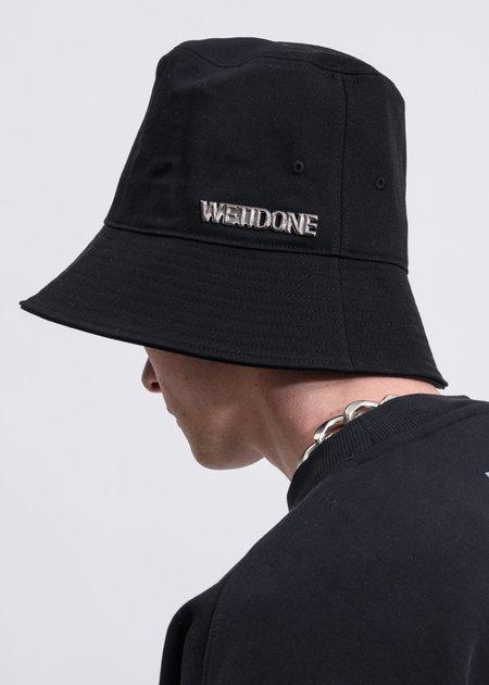 we11done Metal Logo Bucket Hat - Black