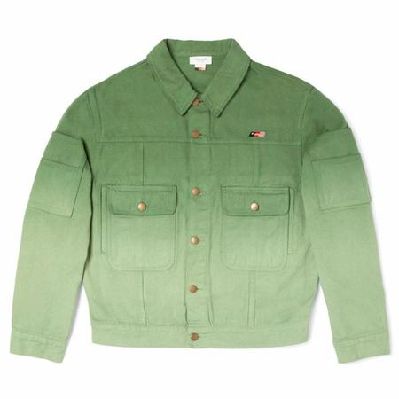 Honor The Gift Gridlock Public Private Oversized Fit Embroidery Jacket - Dip Green
