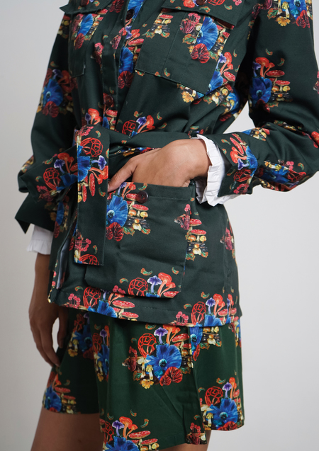 ENSEMBLE THE LABEL CHANTRELLE JACKET - PRINT