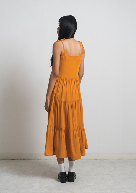 ENSEMBLE THE LABEL JOUR DRESS - TURMERIC