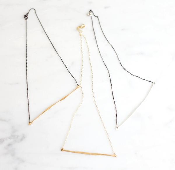 Slantt Organic Bar Necklace