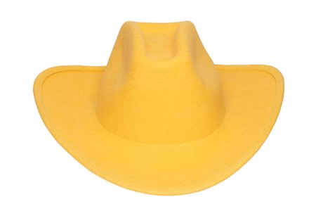 Clyde Wool Cowboy Hat - Bright Yellow