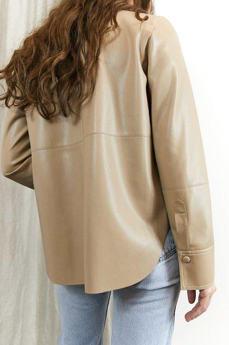 Nanushka Naum Vegan Leather Shirt - Sandstone