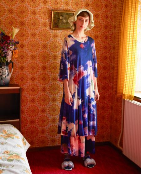 HENRIK VIBSKOV Stream Jersey Dress - Painted Clouds