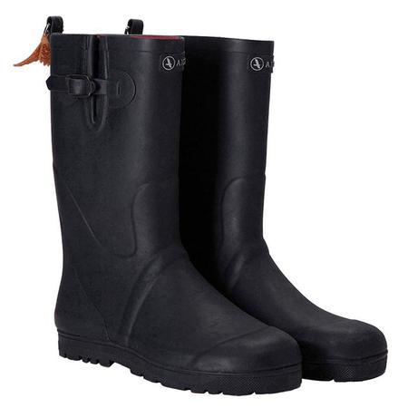 Kids Aigle Woodypop Rubber Boots - Navy Blue