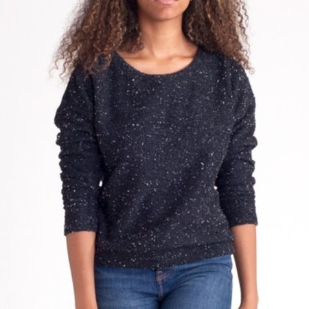 Make It Good Pebble Knit Sweatshirt in Black