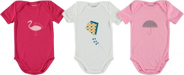 Cocoricotte Box 3 Bodysuits Girl