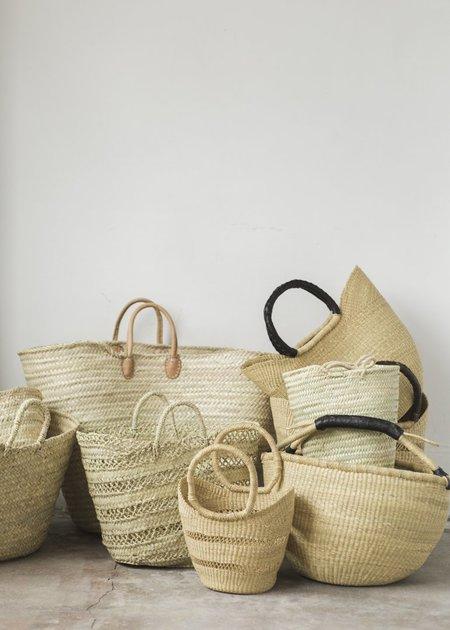 Charlie & Lee Wing Shopper Basket with Black Leather Handles